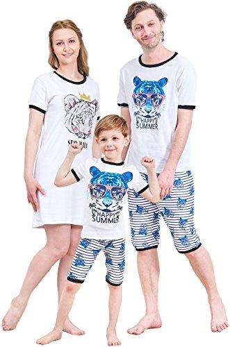 IF Family Women's Nightgown White Cotton Sleep Dress Scoopneck Short Sleeve Sleepwear S