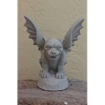 Winged Concrete Gargoyle Outdoor Garden Decor Sculpture Patio Gothic  Medievel Guardian