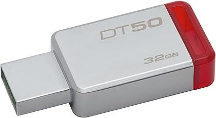 Pendrive DataTraveler 50 32GB, Kingston, Pendrives, Prata / Vermelho