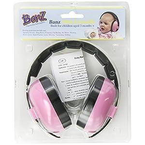 Banz Mini Earmuffs Age 3 Months Pink