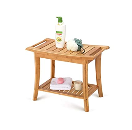 Wondrous Amazon Com Wooden Shower Seat Bathroom Non Slip Bench Old Download Free Architecture Designs Grimeyleaguecom