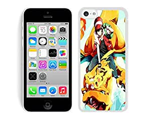 pokemon trainer gold vs red White Hard Plastic iPhone 5C Phone Cover Case