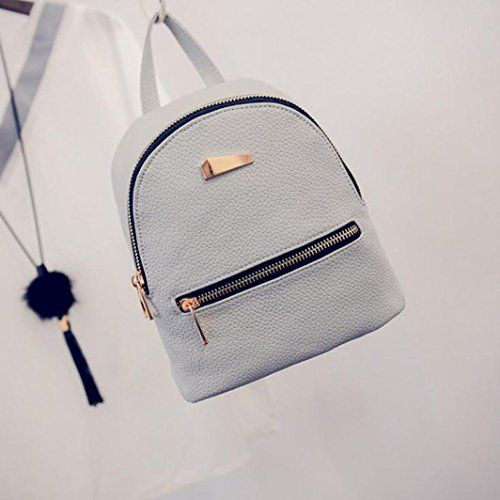 Travel School Rucksack Backpack Summer Fashion New Leisure VIASA Gray Handbag Women's wgzq866X