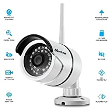 Vimtag® WiFi HD Outdoor IP Security Bullet Camera, Weatherproof, Super Night Vision,Day Night IR-CUT, Motion Detection Push Alerts,linkage snapshot/video recording, Smooth real-time picture with Real-time APP push notifications (32G SD pre-installed)