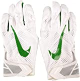 Oregon Ducks Team-Issued White and Green Mesh Nike Football Gloves - Size 4XL - Fanatics Authentic Certified