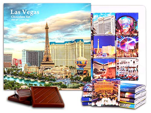 DA CHOCOLATE Candy Souvenir LAS VEGAS Chocolate Gift Set 5x5in 1 box - Chip Palace Caesars