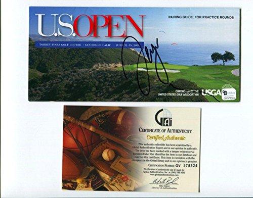 Sergio Garcia PGA Golf Champ Signed Autograph US Open Scorecard Scorecard COA - Autographed Golf Scorecards