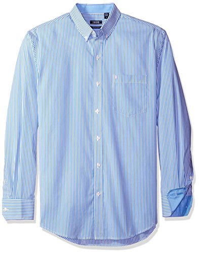 IZOD Men's Advantage Performance Non Iron Stretch Long Sleeve Shirt, Blue Revival, X-Large