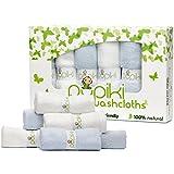 Pupiki Baby Washcloths: 6 Ultra-Soft 100% Organic Bamboo...