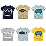 Moonker Baby Tops for 2-7 Years Old - Toddler Infant Boys Girls 2018 Summer New Pattern Short Sleeve Casual Tees T-Shirts