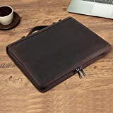 Handmade Genuine Leather Portfolio, Zippered