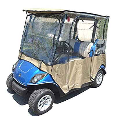 Formosa Covers Golf Cart Driving Enclosure for Yamaha Drive, The Drive, YDR 2 seater Exclusively - All Weather