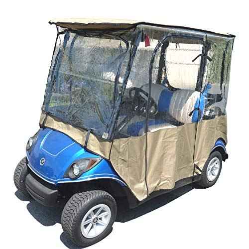 Formosa Covers Premium Tight Weave Golf Cart Driving Enclosure for Yamaha Drive, The Drive, YDR 2 seater Exclusively - All Weather -