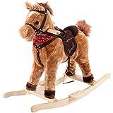 Costzon Children Classic Rocking Horse Rider Toddler Kids Toy Saddle Ride Gift w/ Song