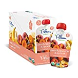 Plum Organics Stage 2, Organic Baby Food, Peach, Banana and Apricot, 4.0 ounce pouch (Pack of 12)