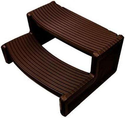 Amazon Com Confer Plastics Resin Multi Purpose Outdoor Non Slip Portable Spa And Hot Tub Handi Step Deck Patio Steps Accessories Espresso Sports Outdoors