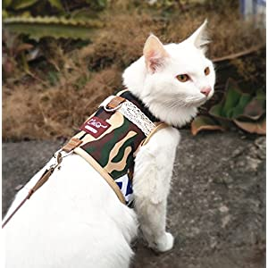 Escape Proof Cat Harness with Leash, Adjustable Cat Walking Jackets, Padded Cat Vest 13