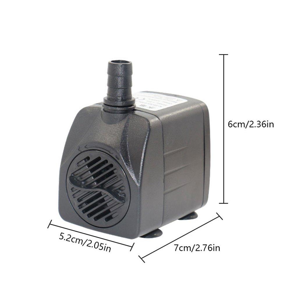 Mini Bomba de Agua del Acuario Ultra Silencioso, (15W) Bomba Sumergible de Circulación, para Pecera Acuario Jardín, Estanque, Fuente o Mascotas, ...