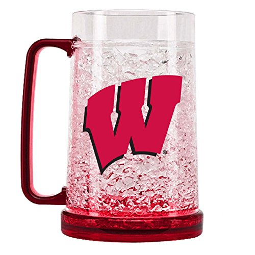(NCAA Wisconsin Badgers 16oz Crystal Freezer Mug)