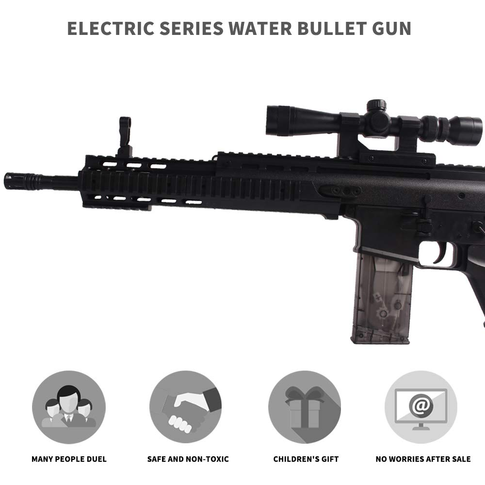 Anstoy Rifle Gel Ball Blaster Water Gun, Electric Gel Ball Shooters with 7-8mm Ammo for Outdoor & Birthday Gift,Next Generation Toy Gun by Anstoy (Image #2)