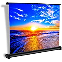 Projector Screen, Auledio Portable 50 Inch 16:9 Manual Pull Down Movie Projection Screens for Home Cinema, Office, Outdoor Travel