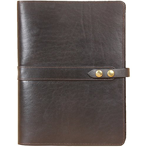 Leather Business Portfolio Notebook Folio Writing Pad Black No. 18 USA Made by Col. Littleton