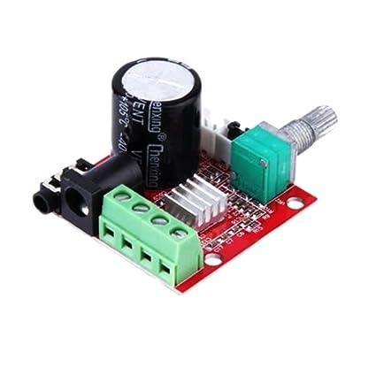 daorier Mini amplificador digital de audio PAM8610 Chip de módulo 2 x 10 W 2200uF Condensador