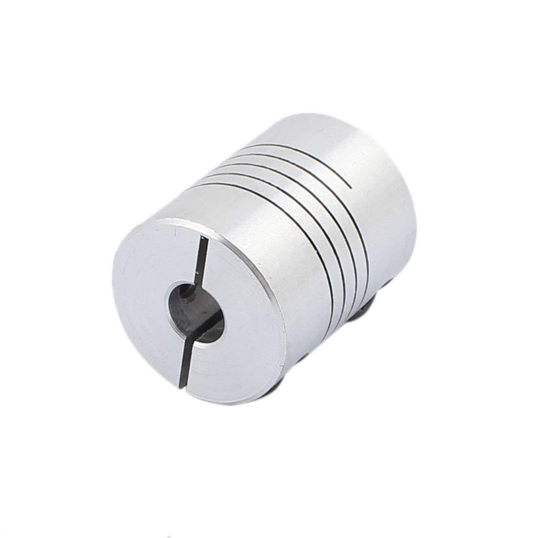 Xnrtop 6mm to 6.35mm Shaft Coupling 25mm Length 20mm Diameter Stepper Motor Coupler Aluminum Alloy Joint Connector for 3D Printer CNC Machine DIY Encoder Pack of 2)