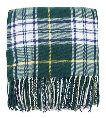 (Fennco Styles Cozy Tartan Plaid Design Tassel Throw Blanket, 50