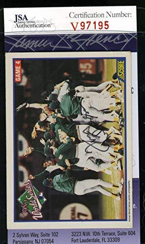 TONY LARUSSA 1989 Score JSA Coa Hand Signed Authentic Autograph