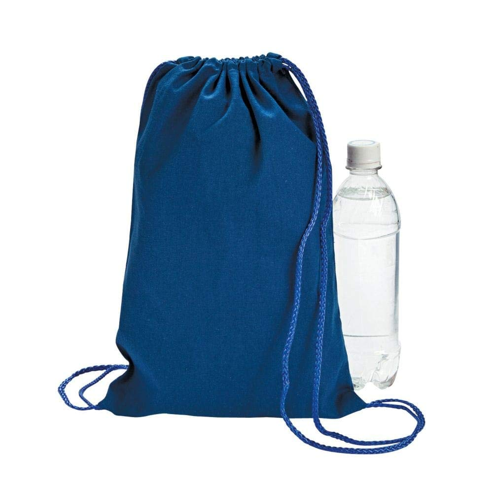 descuento de ventas en línea Fun Express Express Express azul Canvas Drawstring Backpacks (1 Dozen)  marca en liquidación de venta