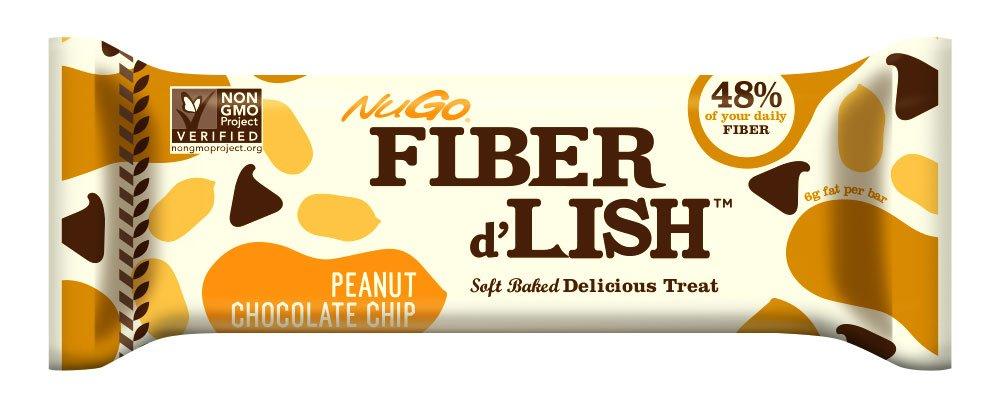 NuGO Fiber d'Lish Peanut Chocolate Chip, 16 Count