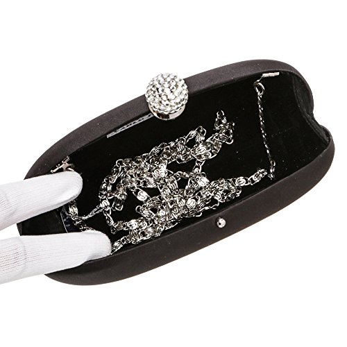 Black Prom Michal Wedding Fellini Women Satin Evening Carlo 8029 Fully 41 LeatherBag 4wq7XTPnn