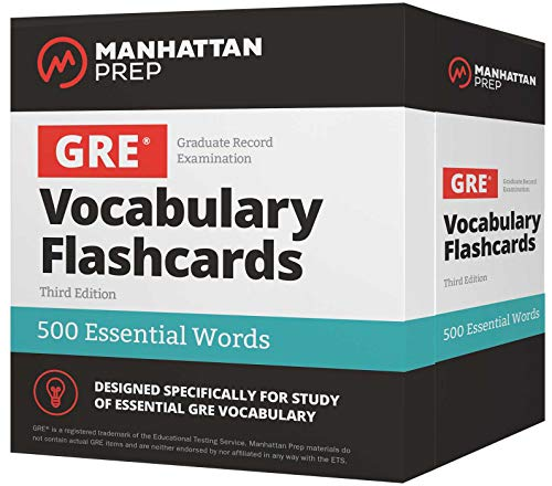 500 Essential Words: GRE Vocabulary Flashcards (Manhattan Prep GRE Strategy Guides) ()