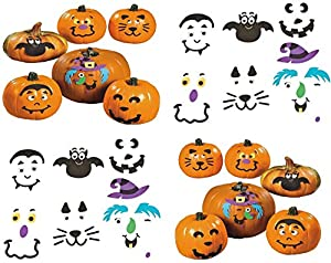 Small Pumpkin Face Craft Kits - Crafts for Kids & Decoration Crafts (24 Pack)