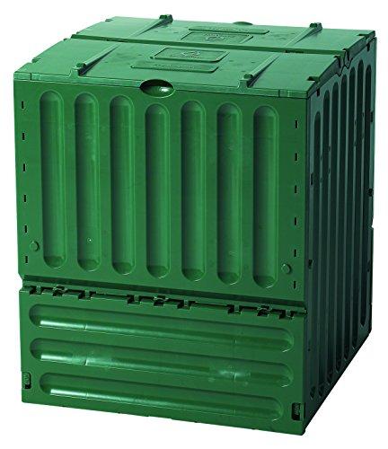Eco Composter - Exaco 627003 Small Eco-King Polypropylene Composter, 110-Gallon, Green