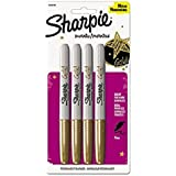 Sharpie Metallic Permanent Markers, Gold, 4/Pack
