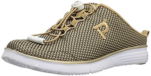 Propet Mujeres Travelfit Zapato Deslizante Y Oxy Cleaner Bundle Gold / Black