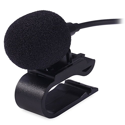 - AUTOLOVER 3.5mm Portable Car External Microphone Mic DVD Radio Laptop Stereo Player Head Unit with 3m Cable Plug and Play