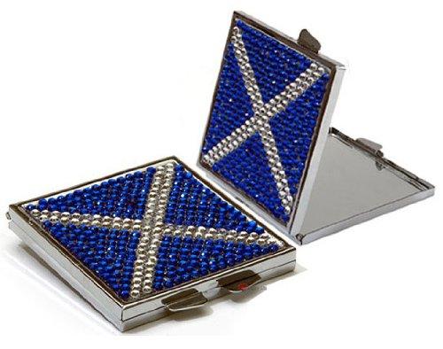 Square Saltire Diamante Compact ()