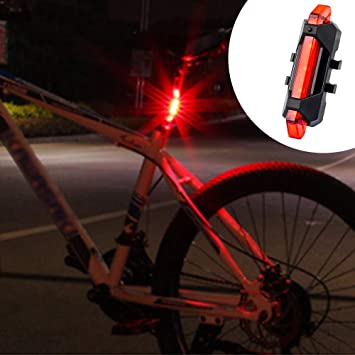 Nozdom Luz Trasera para Bici Bicicleta, Luces Traseras Ciclismo Bicicleta Seguridad Luces Rojas LED Trasera Luminoso Recargable USB Plug and Play - Rojo: Amazon.es: Deportes y aire libre