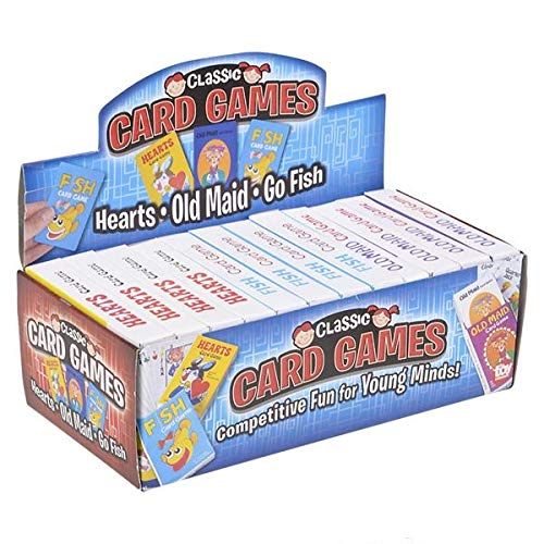 Hearts Pack of 12 Fish SRENTA Coated Card Games Great Party Favors for Children and Old Maid Classic Kids Cards Games