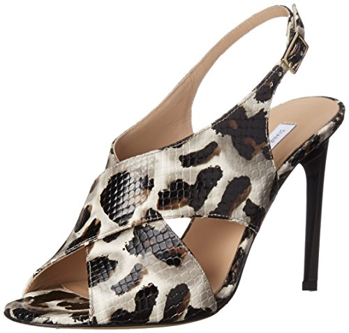 Diane Von Furstenberg Vrouwen Vick Jurk Sandaalsneeuw Cheetah Bedrukte Slang