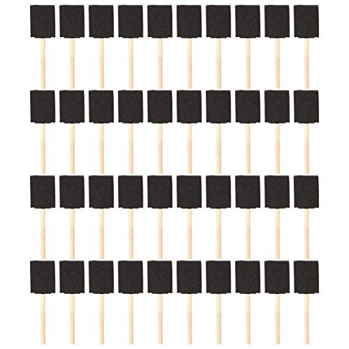 Pack of 40 Foam Paint Brush Set - Value Pack - Great for Acrylics, Stains, Varnishes, Crafts, Art, 2 Inch
