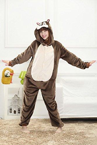 Colorfulworld Kigurumi Pijamas Juguetes y Juegos Animal Ropa Animales Pijama Cosplay Disfraces (M, Green Dargon) Chipmunk