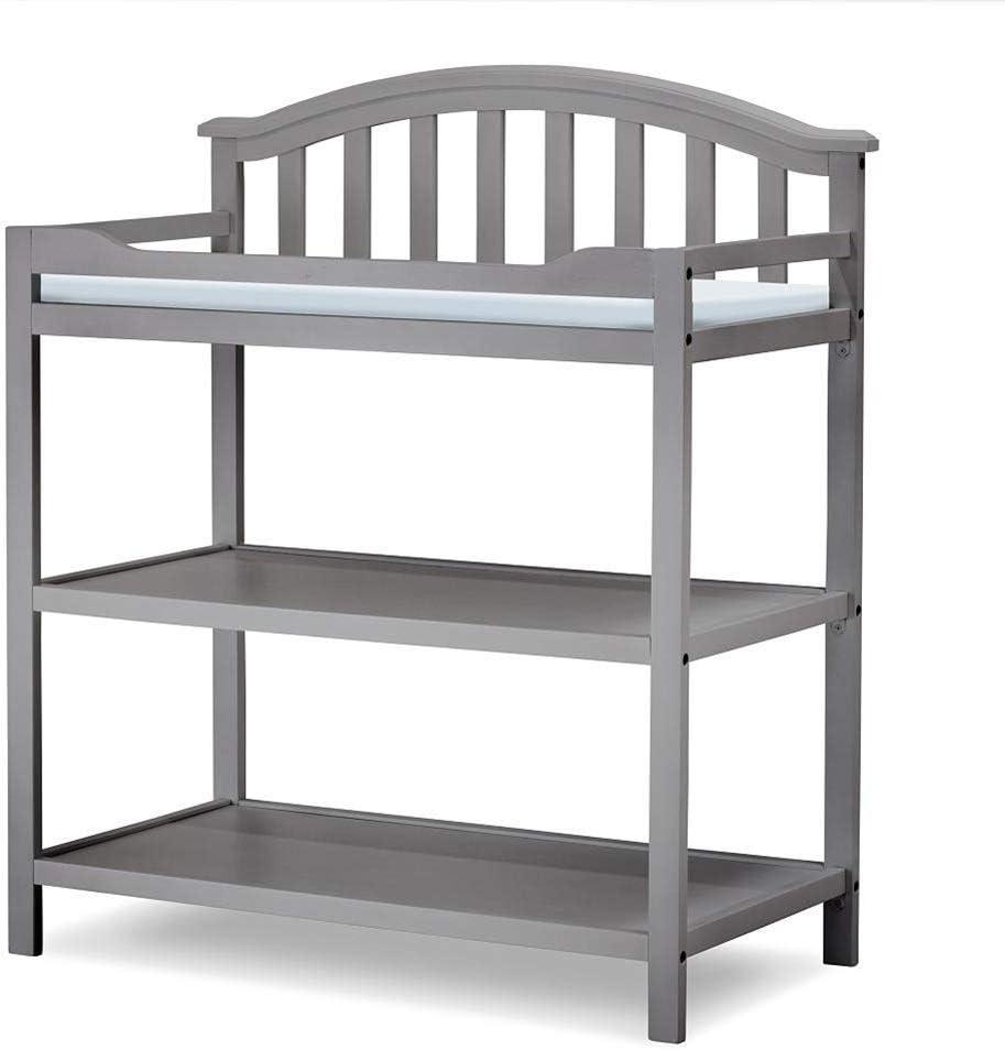 JALAL Cambiador de Madera para bebés, guardería, niñas, niños, bebés, tocador, estación de bañera con Almacenamiento, 0-3 años de Edad