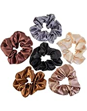 VAGA Cute Scrunchies For Hair 6 Colors Set, Our Hair Scrunchies Hair Elastics Ponytail Holder Pack of scrubchies are Softer Then Hair Ties, A Satin Scrunchie sruchies, Do not Pull Or Snag Thick Hair