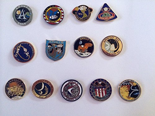 Apollo Program Lapel Pin Set 1,7,8,9,10,11,12,13,14,15,16,17 Armstrong ()
