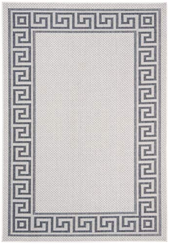 Bermuda Collection - Safavieh BMU820A-8 Bermuda Collection BMU820A Ivory and Blue Area (8' x 10') Rug,