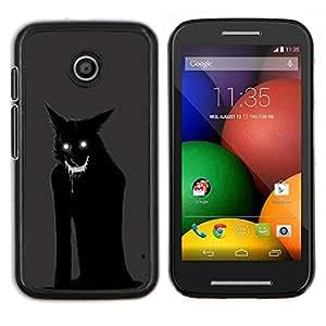 """S-type Monster Gato Demonio Negro Animal"""" - Arte & diseño plástico duro Fundas Cover Cubre Hard Case Cover For Motorola Motorola Moto E / XT1021 / XT1022"""